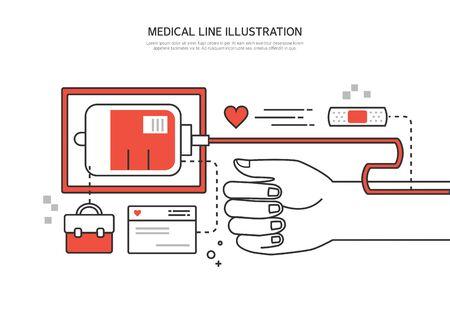 medical illustration: Medical line illustration