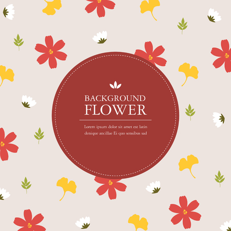 bloem achtergrond Stock Illustratie