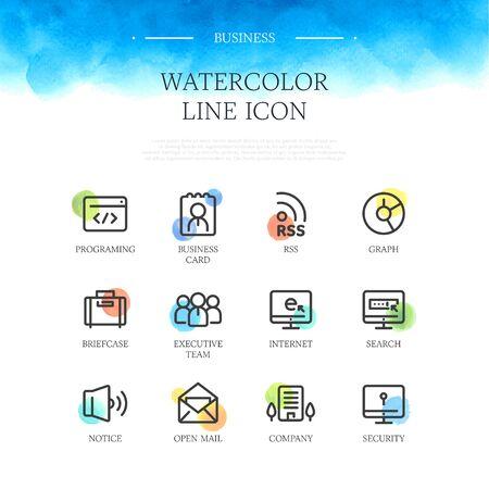 search box: Business line Icon set