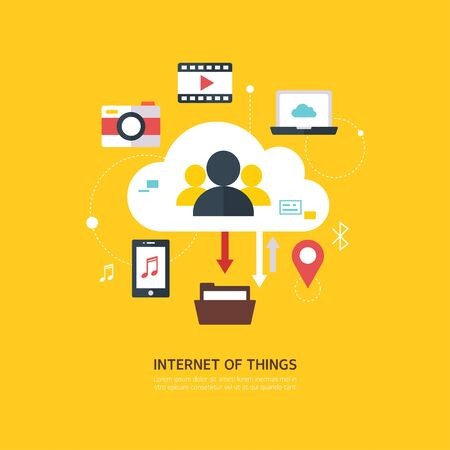 IOT flat illustration
