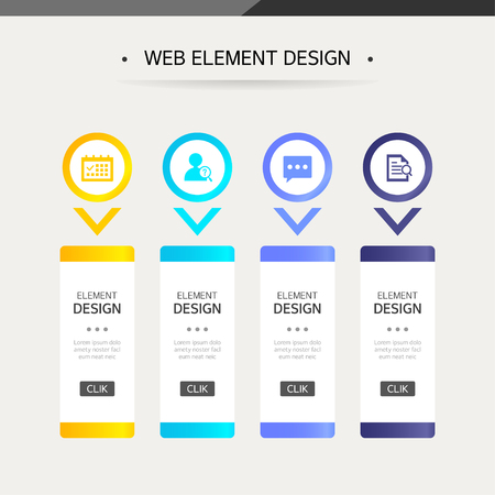 web: Web element design