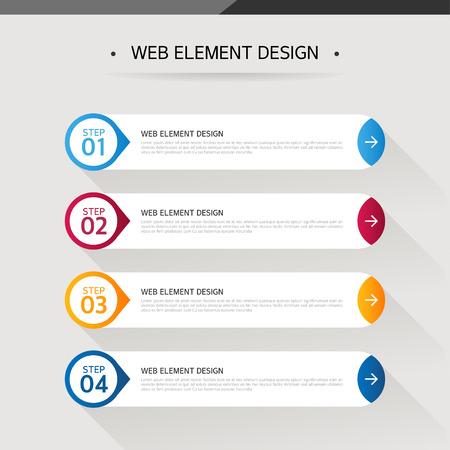 Web element design Vektoros illusztráció