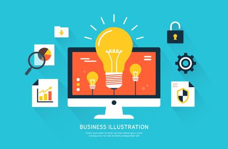 Flat Business illustration