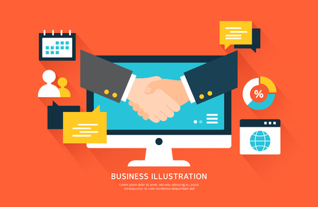 Piso Ilustración de negocio Ilustración de vector