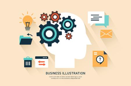 instant messaging: Flat Business illustration