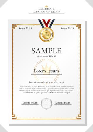 certificat illustration