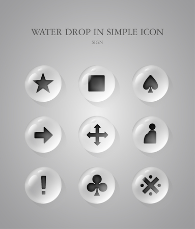 simple: Sign simple icon Set