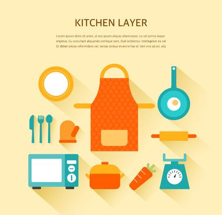 illustration: kitchen illustration