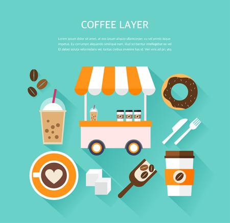 utilization: cafe illustration Illustration