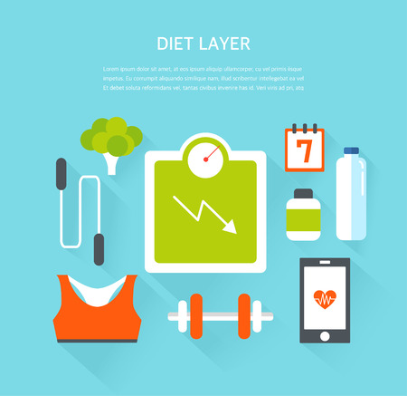 illustration: diet illustration