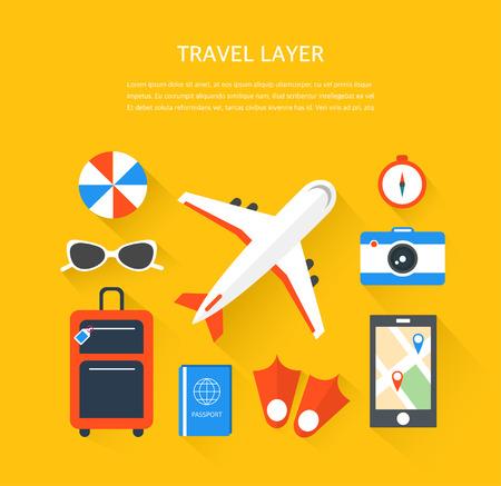 travel illustration Illustration