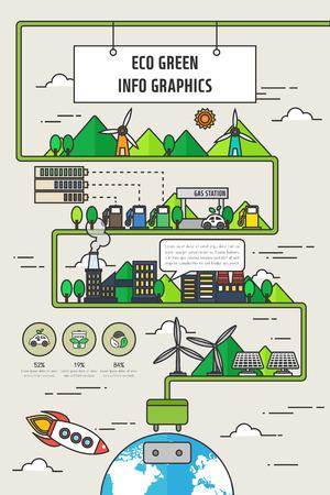graphic illustration: eco Info graphic illustration Illustration