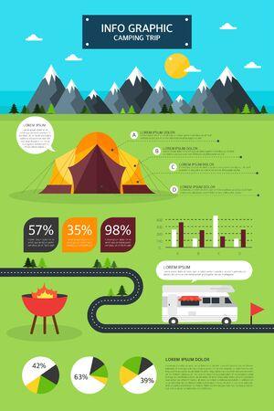 graphic illustration: Travel Info graphic illustration