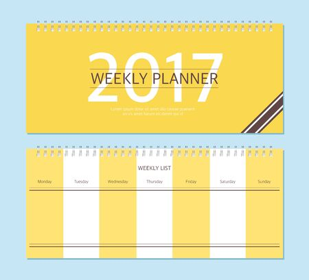 weekly: Weekly Planner Illustration