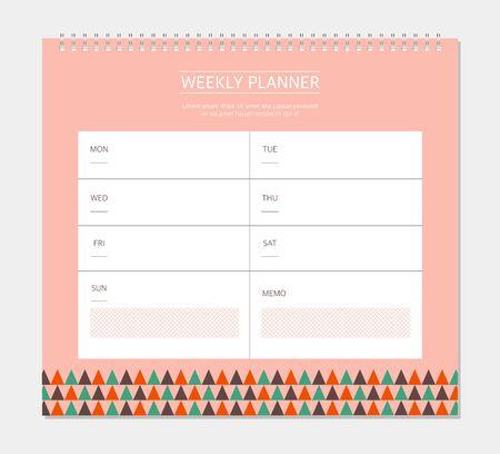 weekly: Weekly Planner Illustration