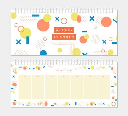 planner: Weekly Planner Illustration