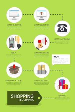 graphic illustration: shopping Info graphic illustration
