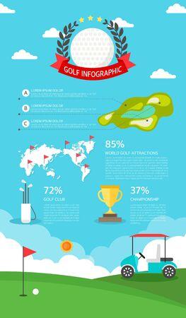 graphic illustration: golf Info graphic illustration