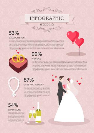graphic illustration: marriage Info graphic illustration