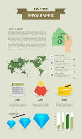 graphic illustration: finance info graphic illustration Illustration