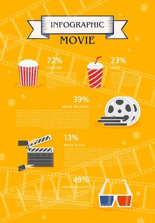 graphic illustration: movie Info graphic illustration