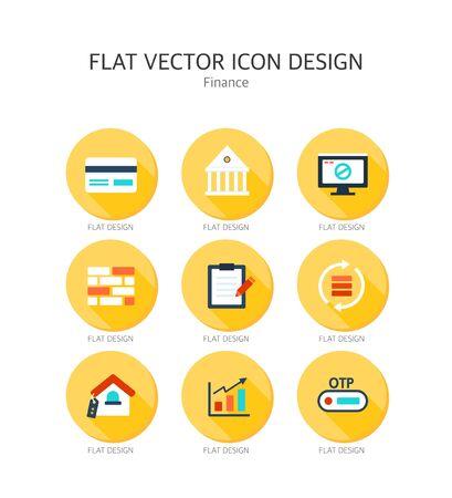 Finance Flat Icon Set
