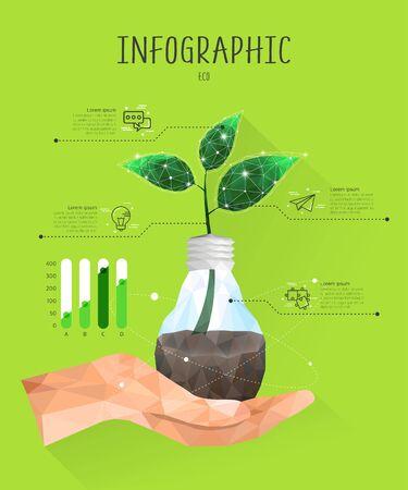graphic illustration: eco Polygon Info Graphic Illustration