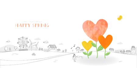 사랑스러운 봄 그림