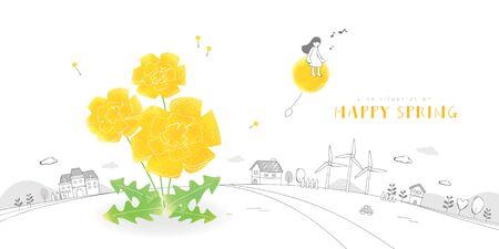 Lovely Spring Illustration