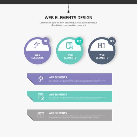 要素の web デザイン  イラスト・ベクター素材