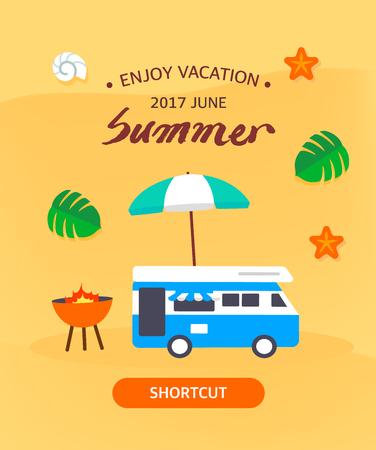 Illustrazione di modello di estate