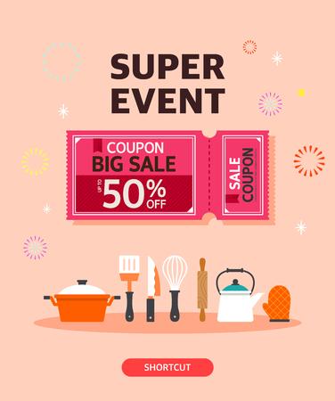 Shopping template illustration