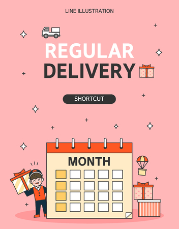 Delivery Line Illustration