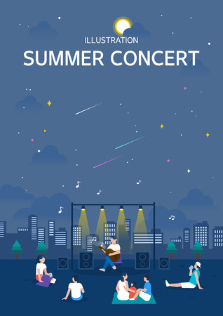 Summer concert illustration
