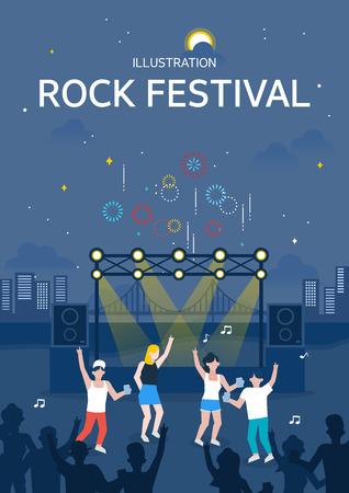 Rock festival illustratie