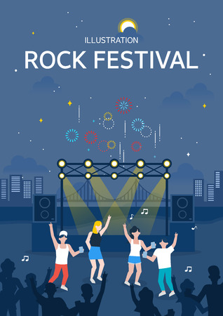 Rock festival illustration