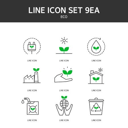 Eco line icon Ilustracje wektorowe