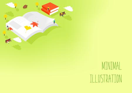 Minimal illustration of autumn Vektorové ilustrace