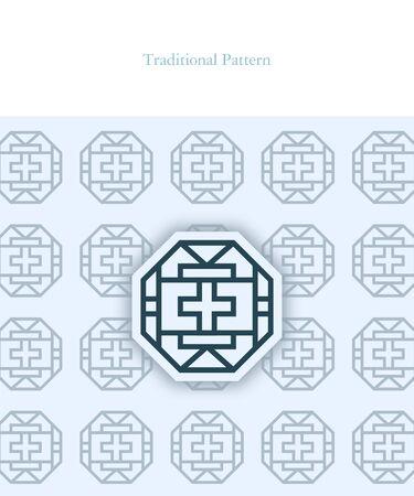 Korean Traditional Pattern Design Ilustrace