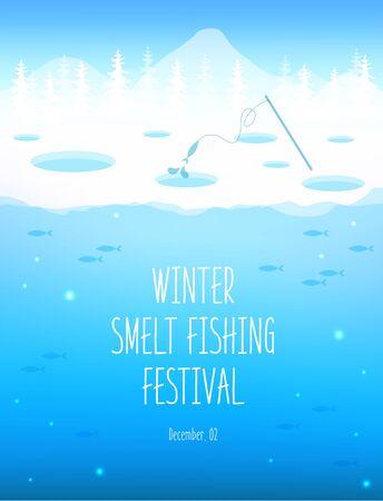Winter smelt festival illustration Illustration