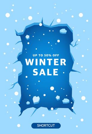 winter shopping illustration