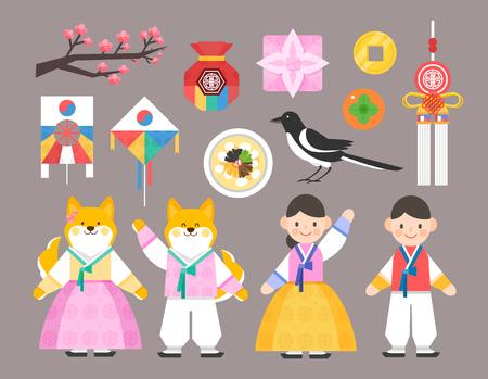 Koreaanse traditieillustratie Vector Illustratie