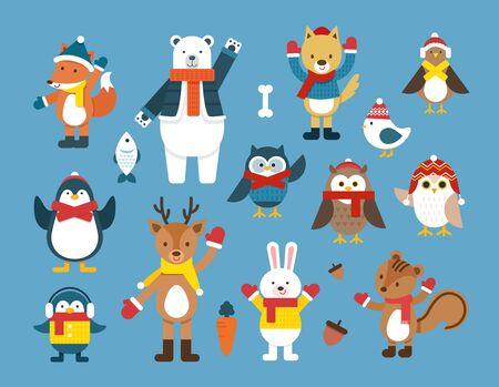 Winter animal illustration