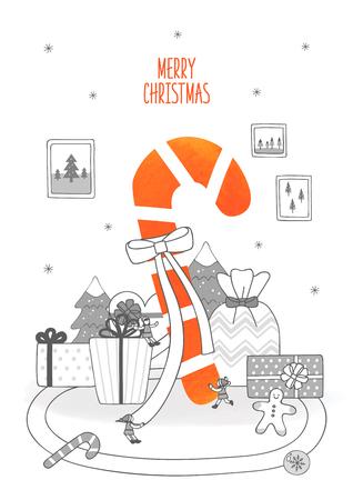 Kerst ontwerp illustratie