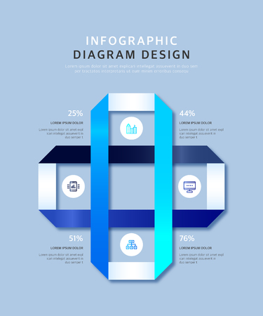 Infographic diagram design template in origami style, can be used for step up options, workflow lay out and office banner background