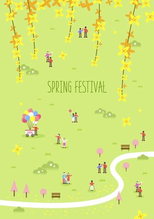 Spring Flower Festival Illustration