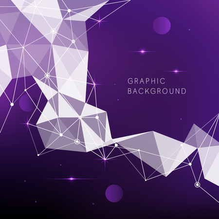 Geometry crystalline  pattern with violet background Ilustrace