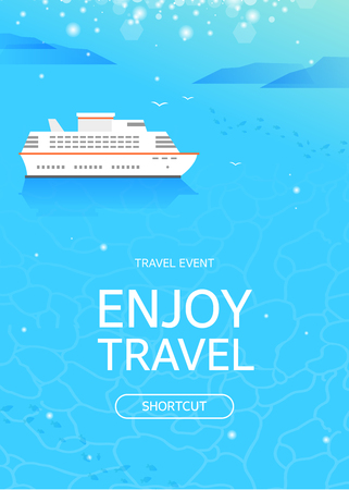 Cruiseschip op zee, reisconcept