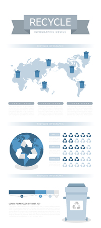 Recycled Info Graphic Flat Design