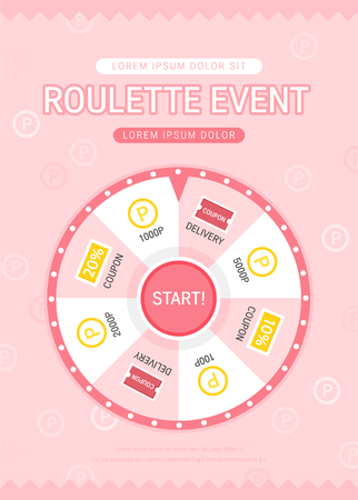 Roulette event design banner. Stockfoto - 100113702